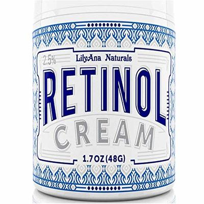 Retinol Cream Moisturizer for Face and Eyes, Use Day and Night – for Anti Aging, Acne, Wrinkles – made with Natural and Organic Ingredients – 1.07 OZ