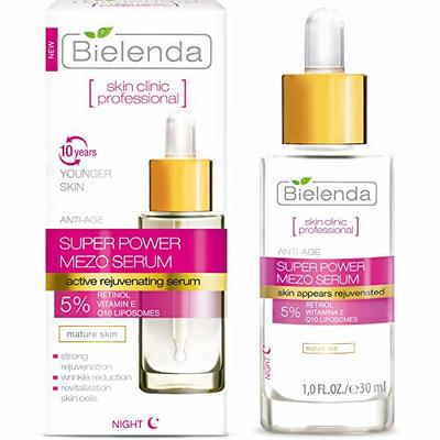 Bielenda Skin Clinic – Face Serum – Reduces Wrinkles Improves Firmness, Elasticity, Smoothes And Revitalizes Skin Cells – Skin Clinic Professional Face Serum With Retinol And Q10-30 ml