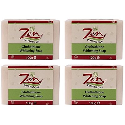 Gluthathione Whitening Soap Pack4 100gms Antibacterial. Antifungal. Blocks and retards melanin pigmentation. Antioxidants. Anti Acne and Anti ageing too.