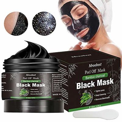 Blackhead Mask, Peel Off Mask, Blackhead Remover Mask, Face Mask with Activated Carbon, Purifying Black Face Mask, Deep Skin Clean Purifying Acne – 120g