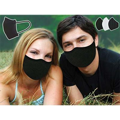 FACE MASK Washable UK Stock VORX MASK Unisex 3 Layer Mouth Nose Shield Soft Breathable Black Fabric Reusable 2 Layers Fabric 1 Layer Polypropylene for Filtration for Men Women