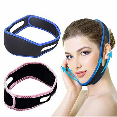 2 Pcs V Shaped Slimming Face Mask,Facial Slimming Strap,Face Lifting Belt,Anti Snoring Chin Strap, Chin Cheek Lift Up Anti Wrinkle Face Massage Tool For Women And Girls