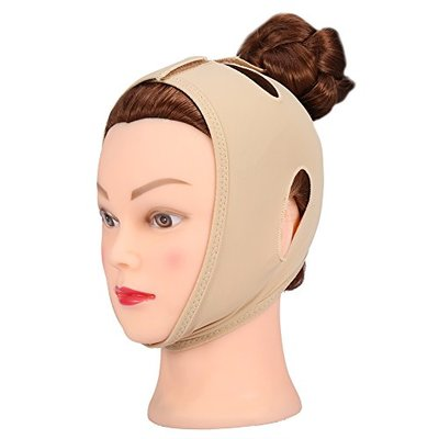 Face Slimming Cheek Mask, Face Slim Lifting Up Tighten Skin Bandage Double Chin Remove Mouth Relaxation Pulling Strap Belt for Sleeping(XL)