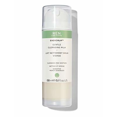 REN Clean Skincare – Evercalm Gentle Cleansing Milk – Natural, Gentle Cleanser for Sensitive Skin – Makeup Melting Cleanser for Face and Neck, 150 ml