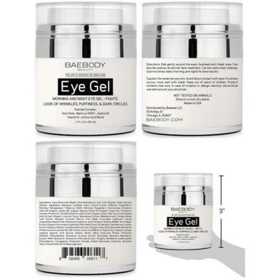 Baebody Eye Gel for Appearance of Dark Circles, Puffiness, Wrinkles and…