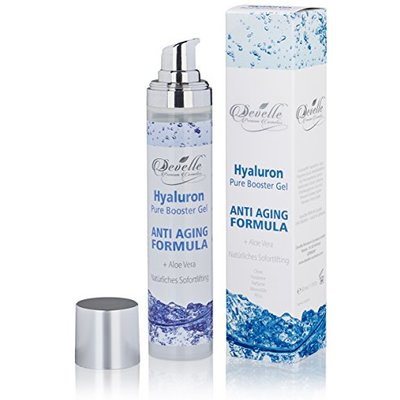 Develle Hyaluronic Acid Gel Pure Booster 50 ml.| Highly Concentrated Hyaluronic Serum| Hyaluronic booster facial care| Anti-Aging Serum |day and night care | Hyaluronic-Gel Vegan and Paraben free