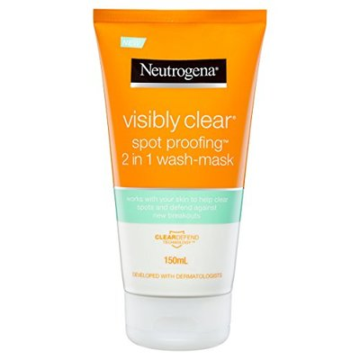 Neutrogena Visibly Clear Spot Proofing 2-in-1 Wash-Mask, 150ml