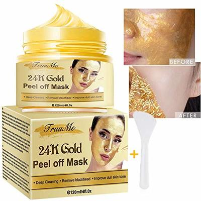 24k Gold Face Mask, Peel Off Face Masks, Blackhead Remover Masks, Peel-off Reduce Wrinkle, Deep Cleansing Facial Mask Pore Shrinking, Anti Acne & Oil Control Soothing & Moisture Skin