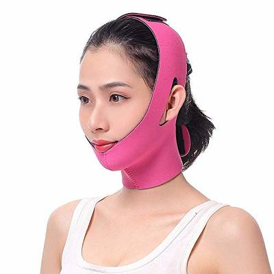 Slimming Face Mask – Facial Slim Band, Thin Chin Support Wrap, Cheek Lifting Belt, V Face Shaping Strap for Anti Aging Wrinkle, Reducing Double Chin