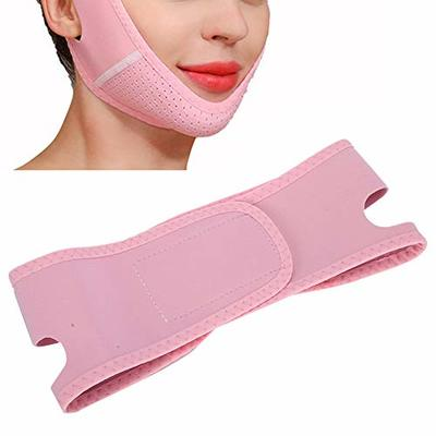 V Line Face Tightening Lifting Belt,Reusable Adjustable Breathable Elastic Face Shaping Slimming Bandage,Chin Lifting Firming