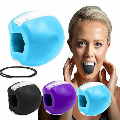 Jaw Exerciser and Neck Toning, Fitness Ball Face Toning Jaw line Exercise Jaw Trainer Define Tone Your Face (Blue)