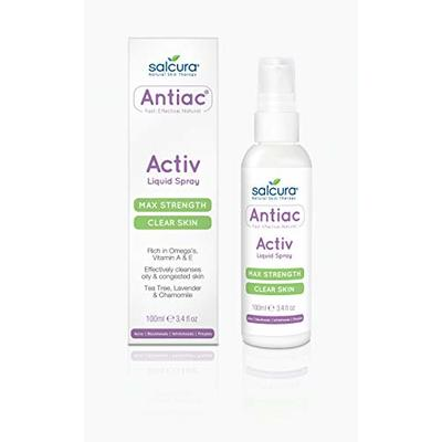 Salcura Natural Skin Therapy, Antiac Activ Liquid Spray, Suitable For Anyone Prone To Suffering From Oily, Congested & Acne-Prone Skin, Refresh, Cleanse & Nourish The Skin 100ml
