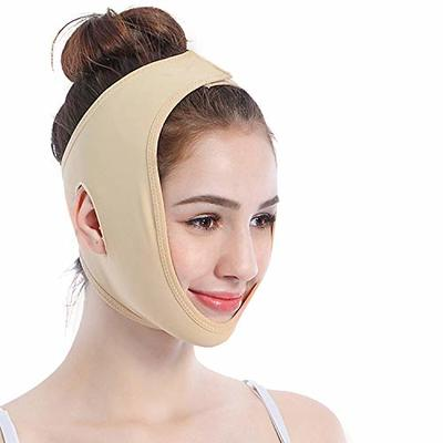 Face Lifting Slimming Belt, Facial Cheek V Shape Lift Up Thin Mask Strap Face Line Smooth Breathable Double Chin Reduce Bandage for Men and Women by ANIBBOW (M)