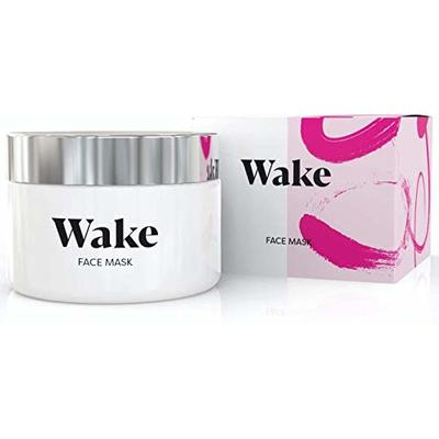 Wake Skincare Face Mask – Detox Pink Clay Mask, Anti Acne Treatment, Removes Blackheads & Reduces Pores, Natural Glow