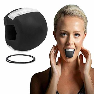 Jaw Exerciser Neck Toning, Fitness Ball Face Toning Jaw line Exercise Jaw Trainer Define Tone Your Face (Black)