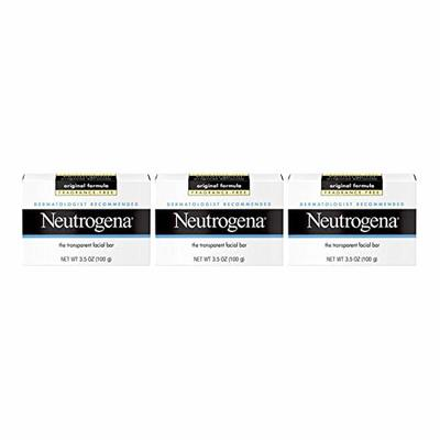 Neutrogena Facial Cleansing Bar, Fragrence Free, 3.5 Oz (Pack of 3)