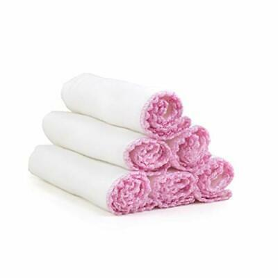 Soft Cotton Facial Cleansing Muslin Cloths for Exfoliation and Makeup Removal –