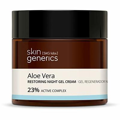 Skin Generics Restoring Sleeping Mask Gel With Aloe Vera And Shea Butter. 23% Active Complex. Korean-Inspired Restoring, Moisturising, Antioxidant Cosmeceutical Gel For Daily Use, 50 ml