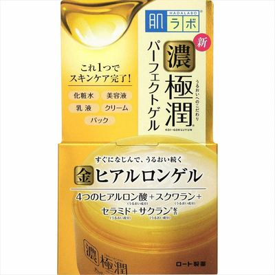 ROHTO Hadalabo Gokujyun All-in-one Rich Perfect Gel 100 g JAPAN F/S