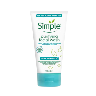 Simple Daily Skin Detox Purifying Face Wash 150ml