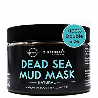 O Naturals Dead Sea Mud for Face & Body. Best Acne Treatment Organic Deep Pore Minimizer Face Cleansing Pore Vacuum for Oily Skin Blackhead Remover Healing Exfoliating Skin Care for Men & Women 500gr