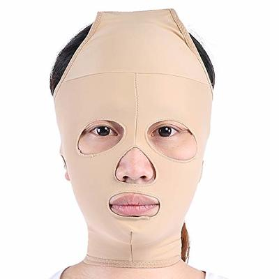 Face Slimming Mask, Full Coverage Lifting Face V Line Belt, Weight Loss Double Chin Care Skin Relief Wrinkle Bandage, Face Slimming Massage Belt(M)