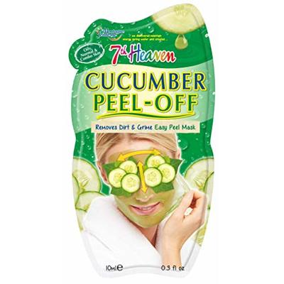 7th Heaven Cucumber Easy Peel-Off Mask with Pulped Cucumber, Pressed Jasmine and Juiced Lime to Remove Dirt and Grime, Ideal for Oily, Normal and Combination Skin