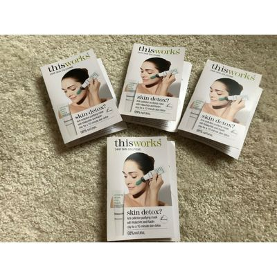 4 This Works skin detox anti pollution clarifying face mask 5ml each 96% natural