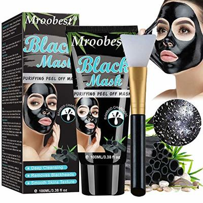 Blackhead Mask, Peel Off Mask, Blackhead Remover Mask, Face Mask with Activated Carbon, Purifying Black Face Mask, Deep Skin Clean Purifying Acne – 100ML