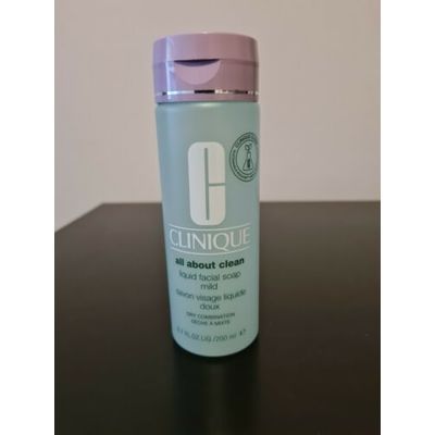 CLINIQUE all about clean Liquid Facial Soap Mild Dry Combination 200ml  New